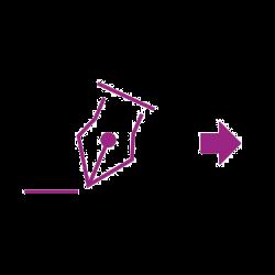 Flèche signature icône violette