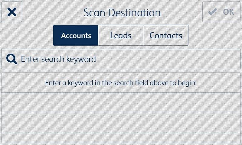 Capture d'écran application Salesforce destination