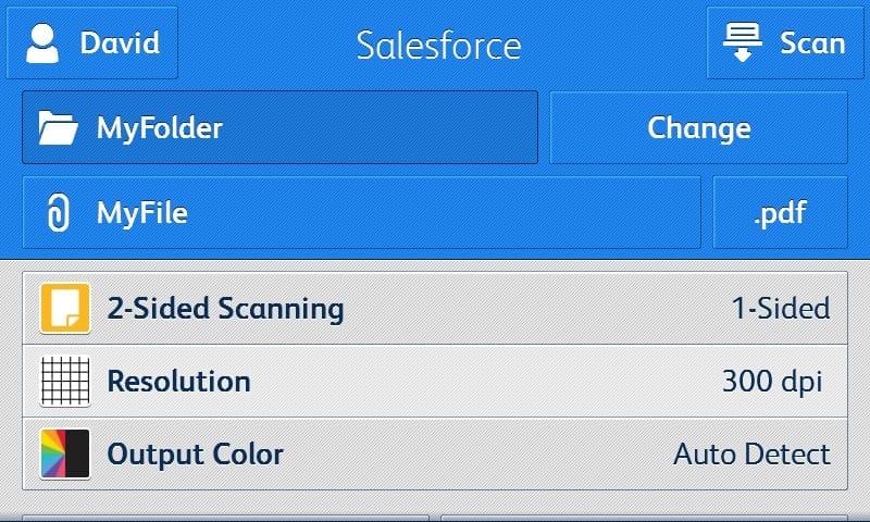 Capture d'écran application Salesforce